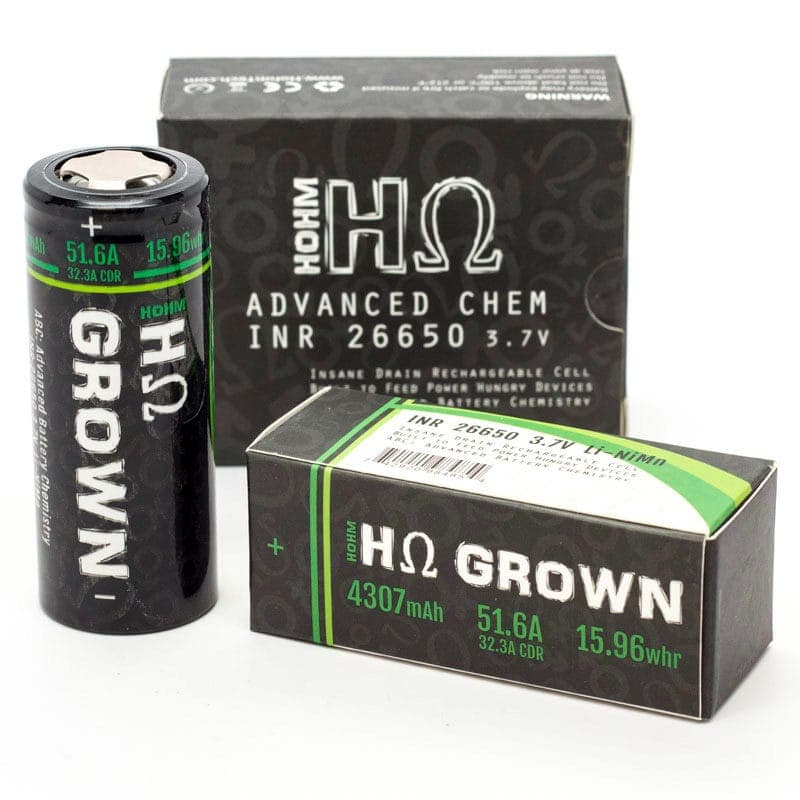 Hohmtech Hohm Grown 26650 Battery With Box