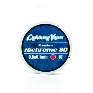 Lightning Vapes Premium Nichrome 80 0.8x0.1mm 10ft