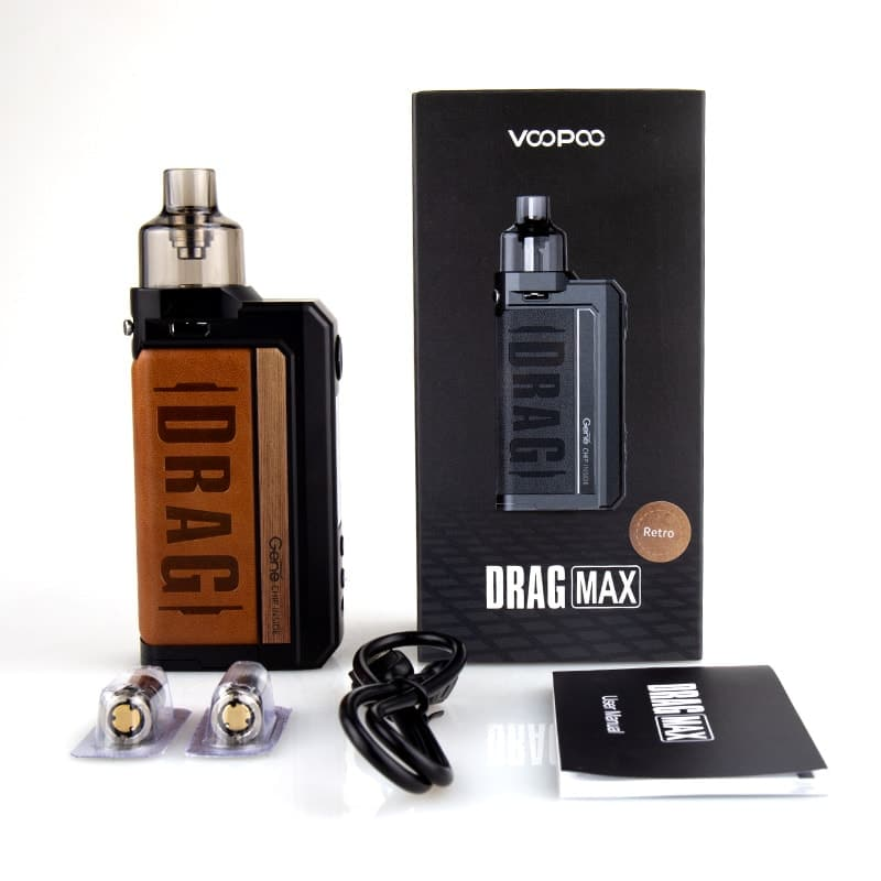 Voopoo Drag Max 177w Pod Mod Kit Package Contents